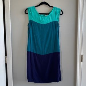 Tri-color Cap Sleeve Dress